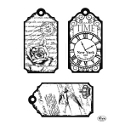 Silikonstempel clear stamps Tags Time