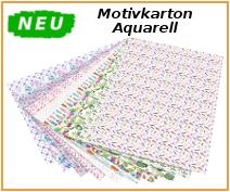 Motivkarton Aquarell